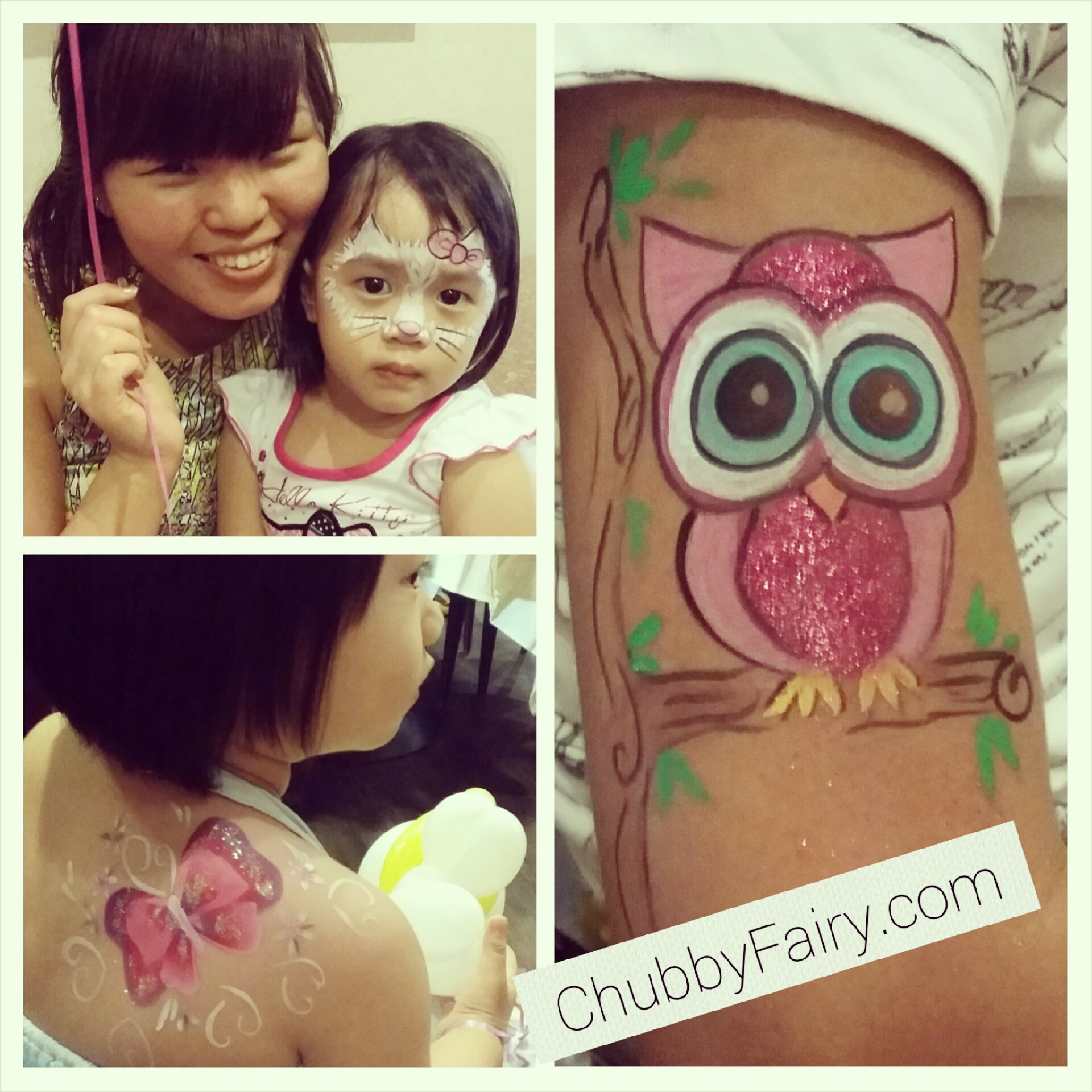 owl, butterfly and hello kitty